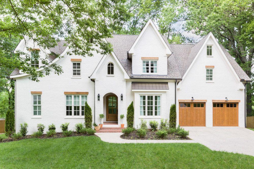 Home Reveal Hilltop Home Scout Nimble Exterior House Colors House Exterior White Brick Houses
