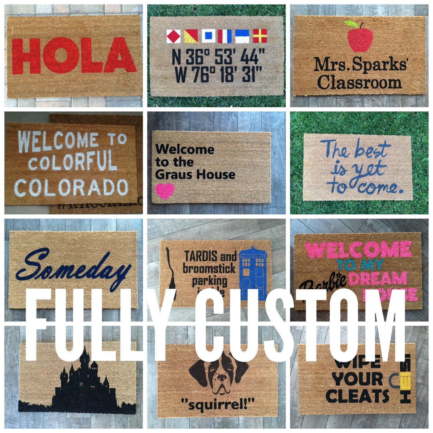 Personalized Welcome Mat Personalized Door Mat Custom Welcome Mat Wedding Gift Custom Doormat Monogram Doormat Monogram Door Mat