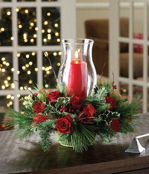 Centros de mesa de navidad con velas navidad pinte for Decoraciones faciles y economicas