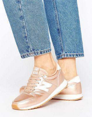 new balance zapatillas mujer rosa y doradas