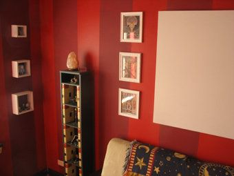red and red striped walls like but same color one satin and one rh pinterest com