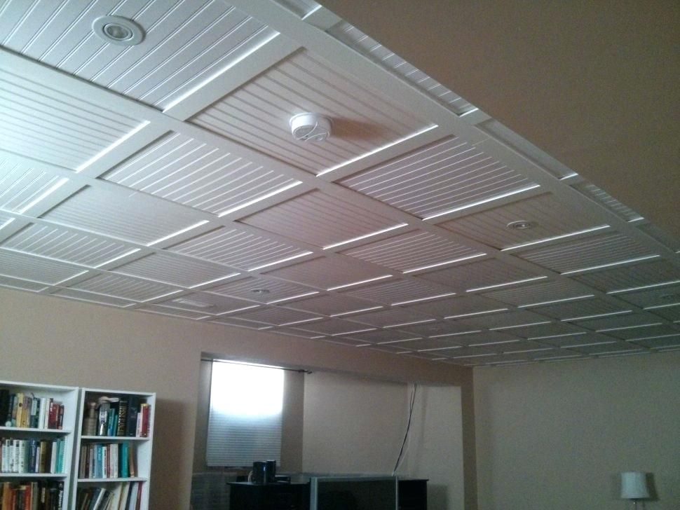 Drop Ceiling Grid Covers Diy Makeover