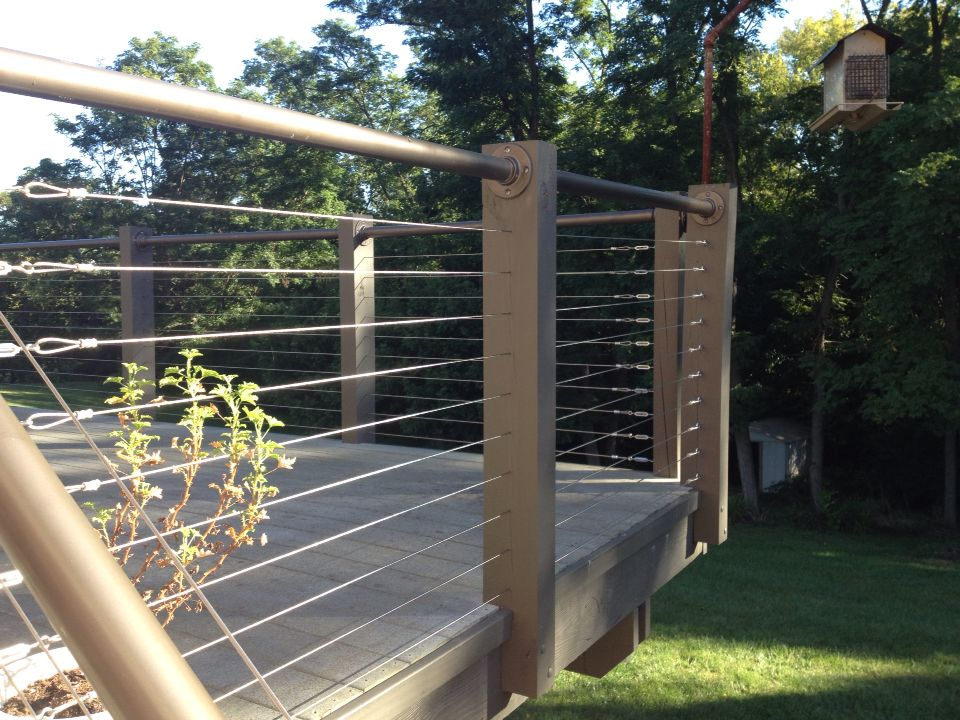 Modern Wire Fence Deck Patio Porch Balcony Cable Railing Modern