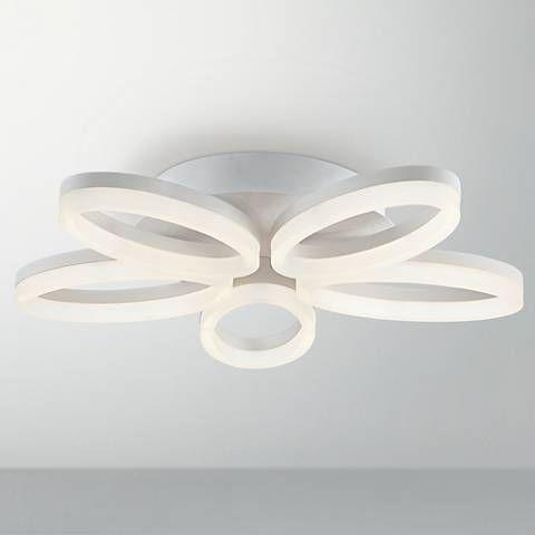 possini euro white bloom 21 1 2 wide led ceiling light 7k591 rh pinterest com
