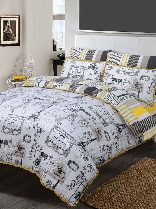 Eiffel Tower (6 PIECES) DUVET COVER SET - Something old meets something new in a most luxurious way! So, Lets meet Paris tonight!