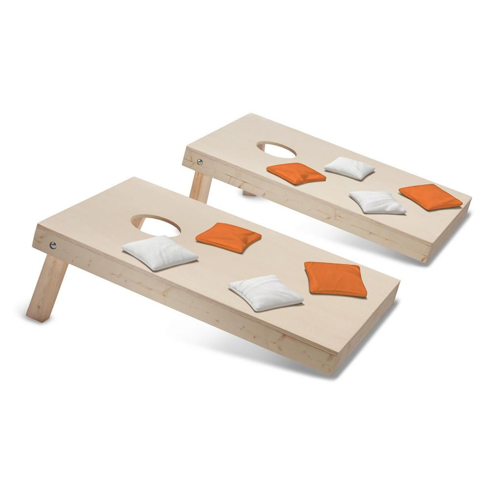 Take-And-Play Cornhole Toss Game Set with Orange and White Bags ...