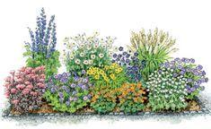 zum nachpflanzen ein bl hendes beet aus schneckenresistenten stauden garden pinterest. Black Bedroom Furniture Sets. Home Design Ideas