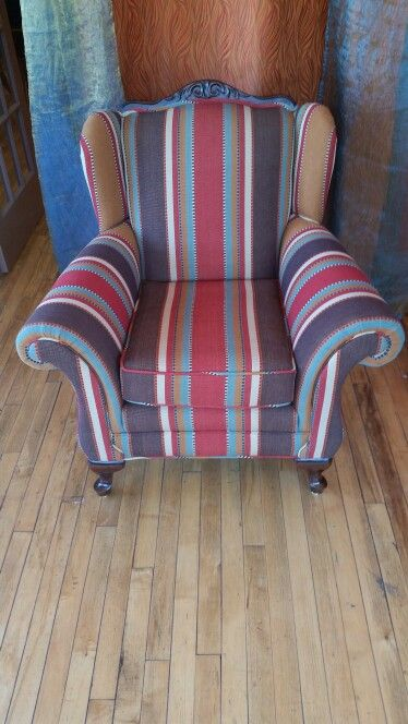Antique Wing Chair @ www.ramosupholsterykc.com