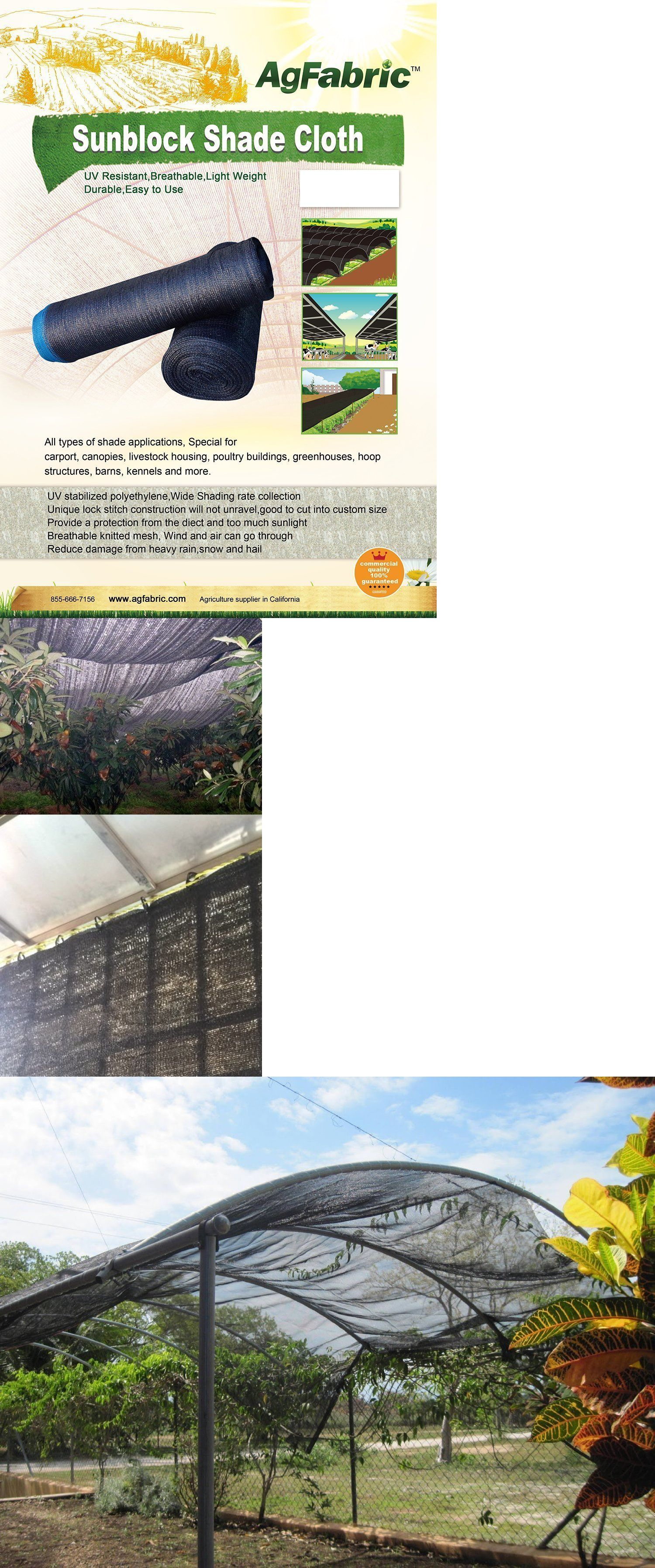 Greenhouses and Cold Frames 139939: Agfabric 50% Sunblock Shade ...