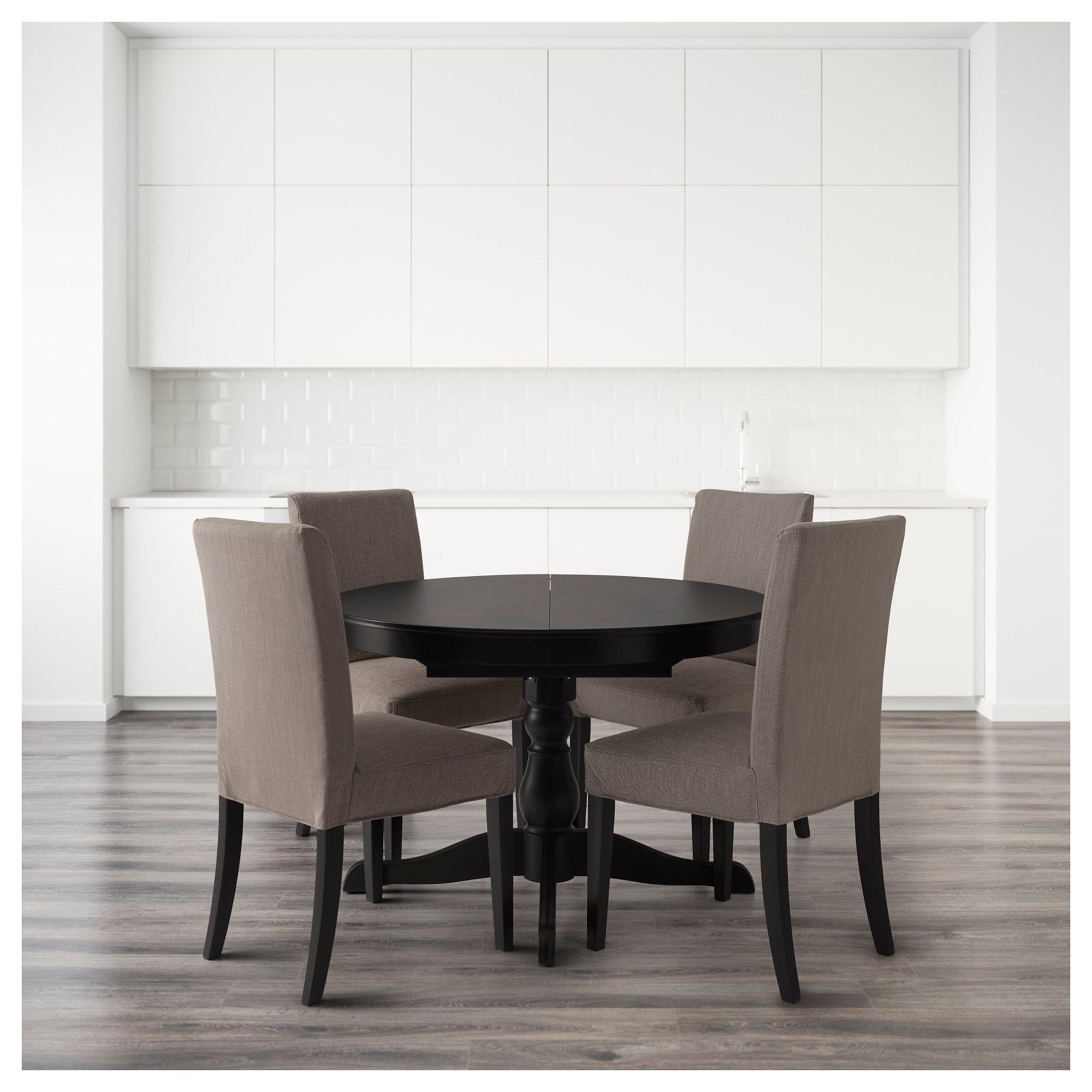 ikea ingatorp henriksdal table and 4 chairs black nolhaga rh pinterest es