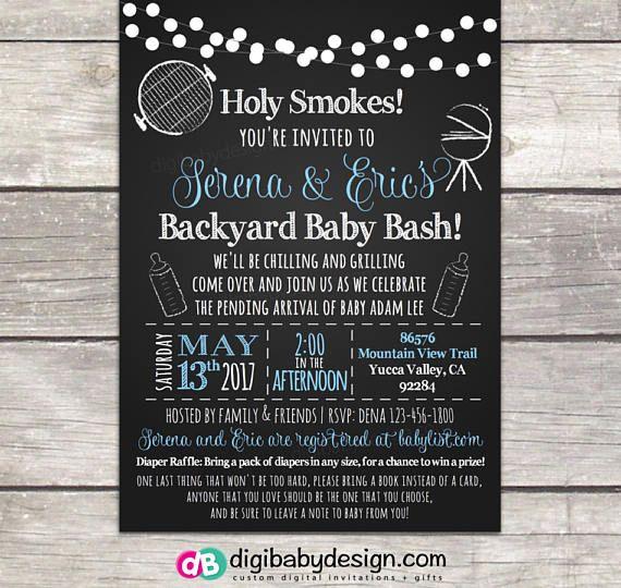 bbq babyque baby shower invitation coed backyard bbq baby shower