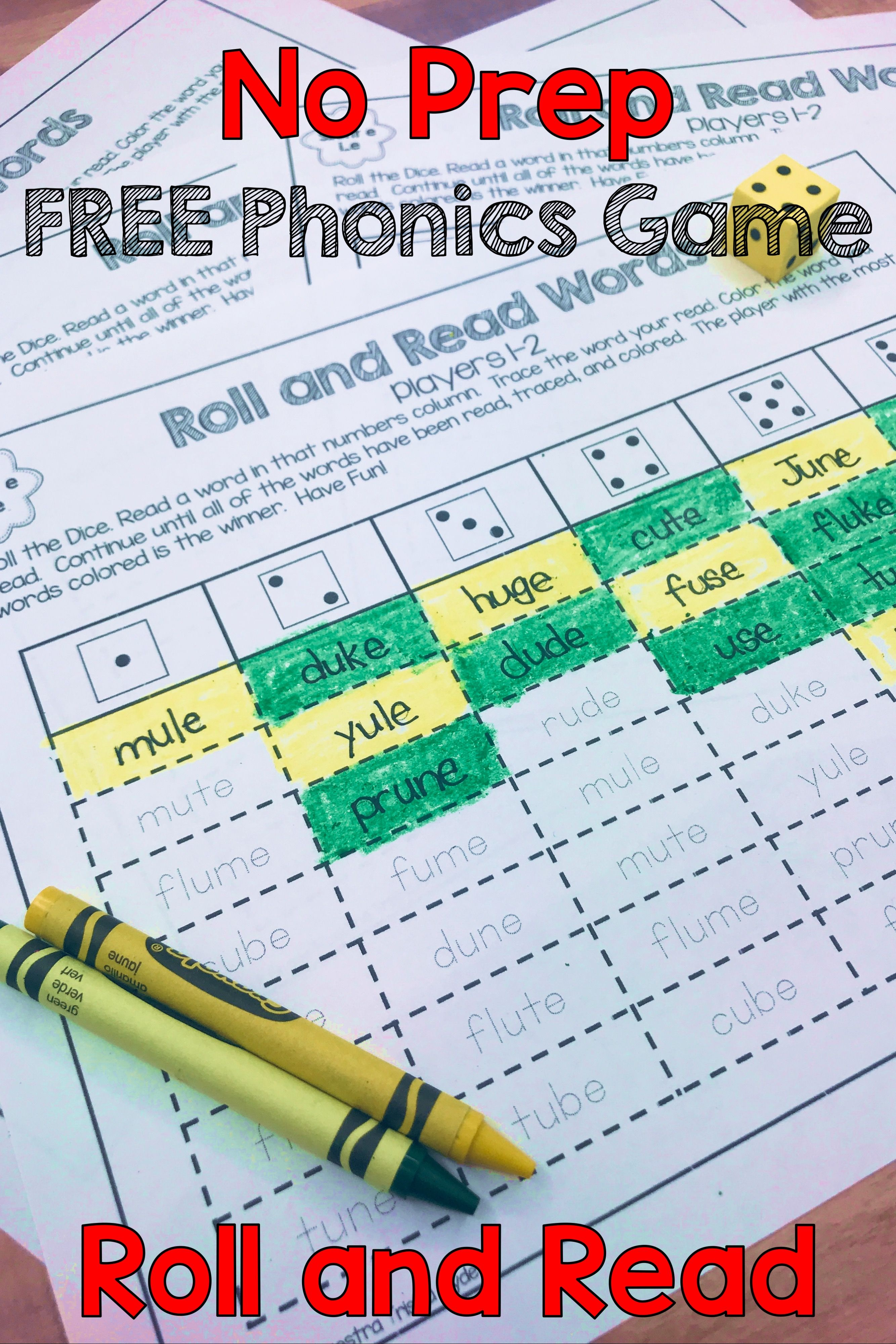 Make Reading Long Vowel Silent E Words Fun With These Free