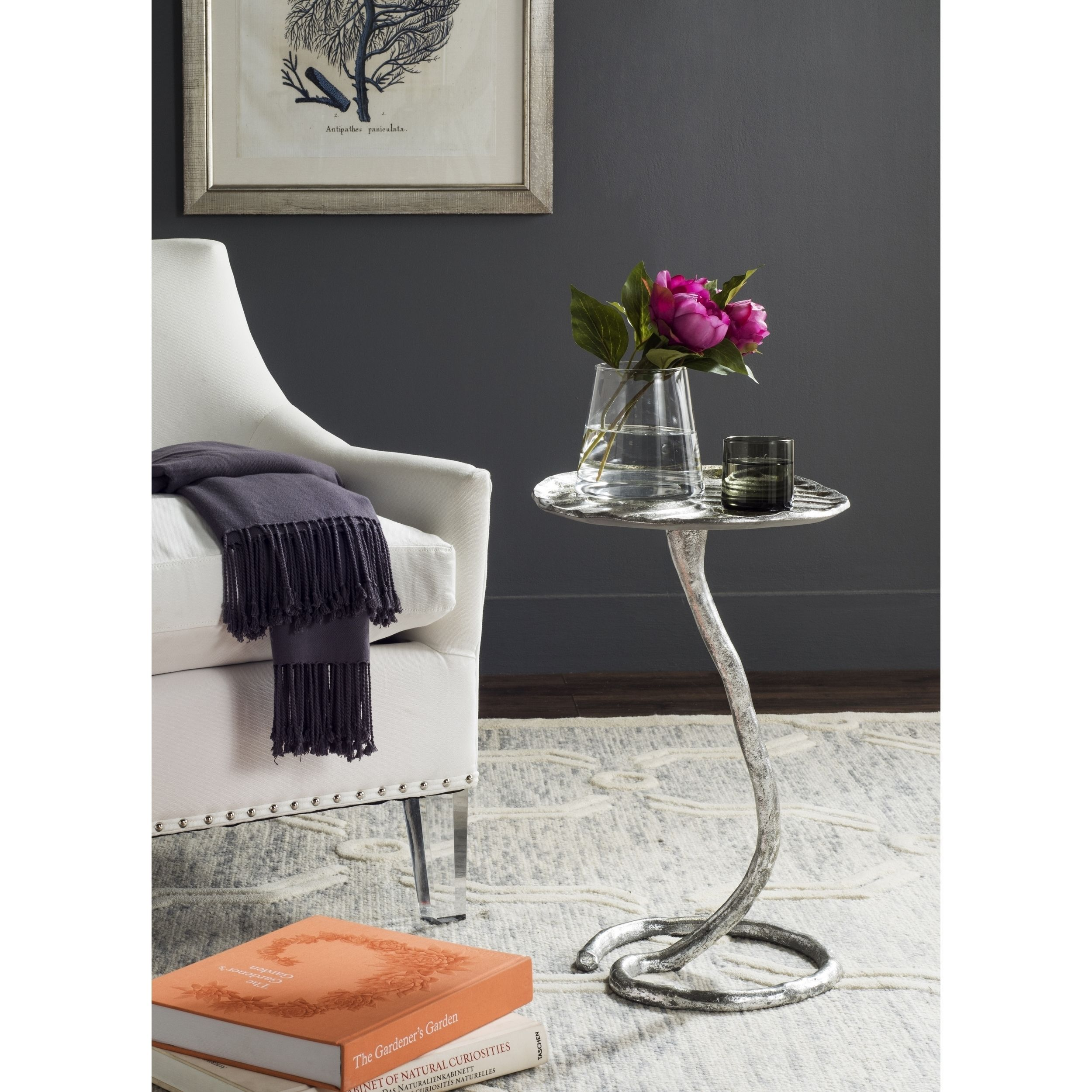 Safavieh Mina Silver Side Table FOX3246B