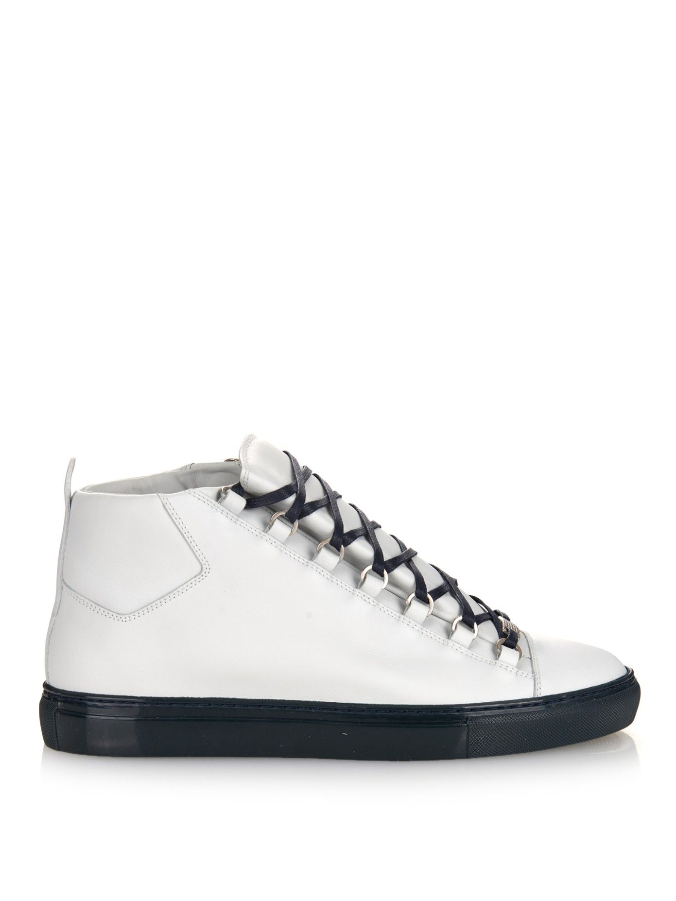 6ae5b889bee7 Arena leather high-top trainers by Balenciaga