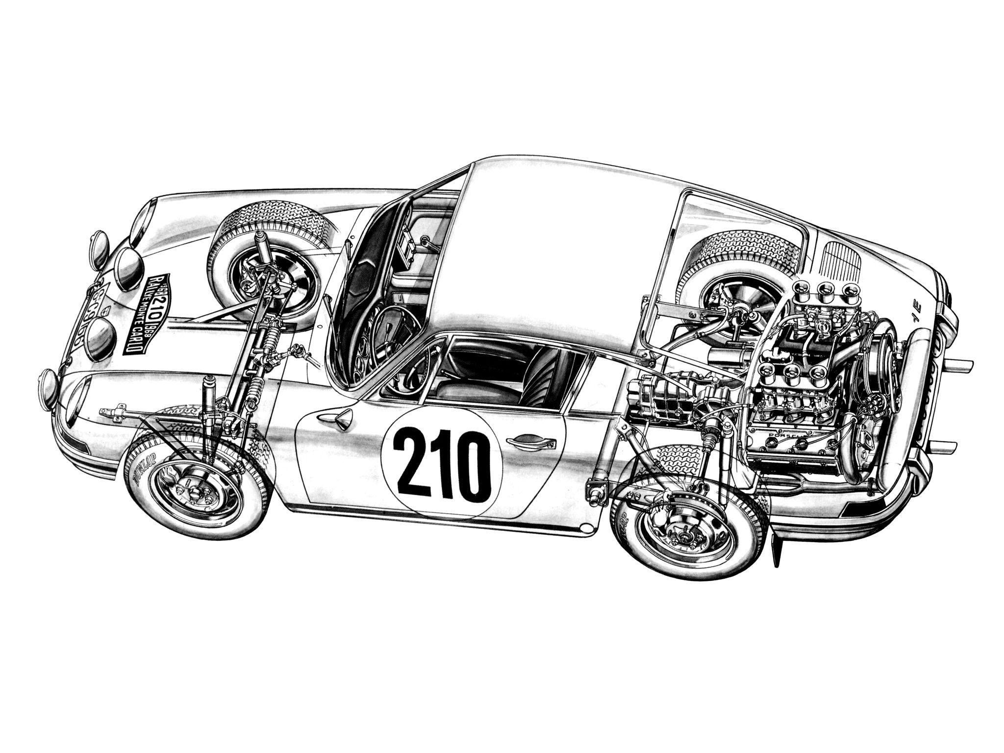Porsche Cutaways Smcars