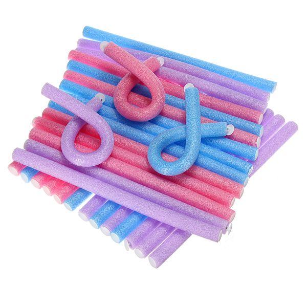 10pcs Bendy Twist Benders Hairdressing Foam Hair Rollers Curlers