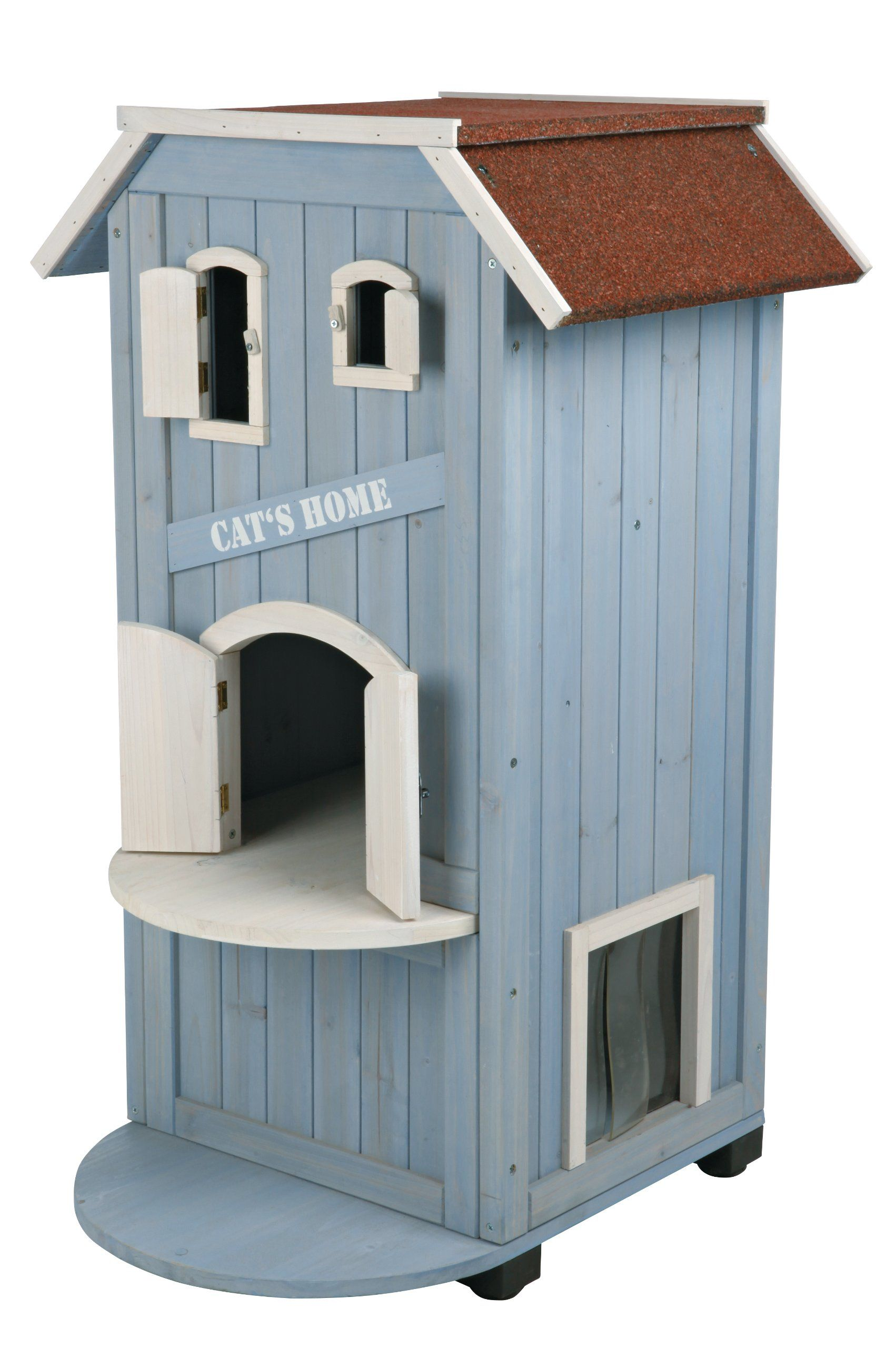 TRIXIE Pet Products 3Story Cat's Home Outdoor cat house
