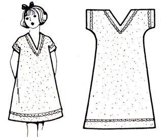 картинка ночная сорочка с цельнокроеным рукавом обоеполый, надежно опыляется
