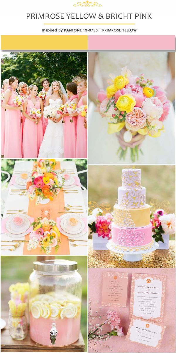 Pantone Inspired Yellow Wedding Color Ideas for Spring and Summer