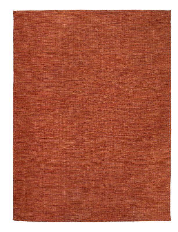 In and Out Handmade Burnt Orange Indoor/Outdoor Area Rug