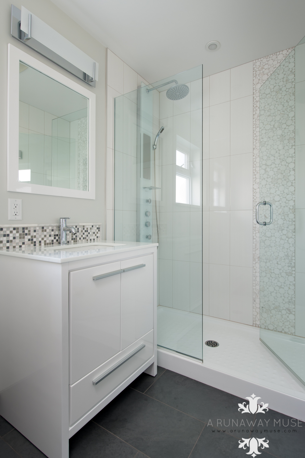 Before And After: 70u0027s Split Level Renovation: Basement Bathroom #interior  #reno