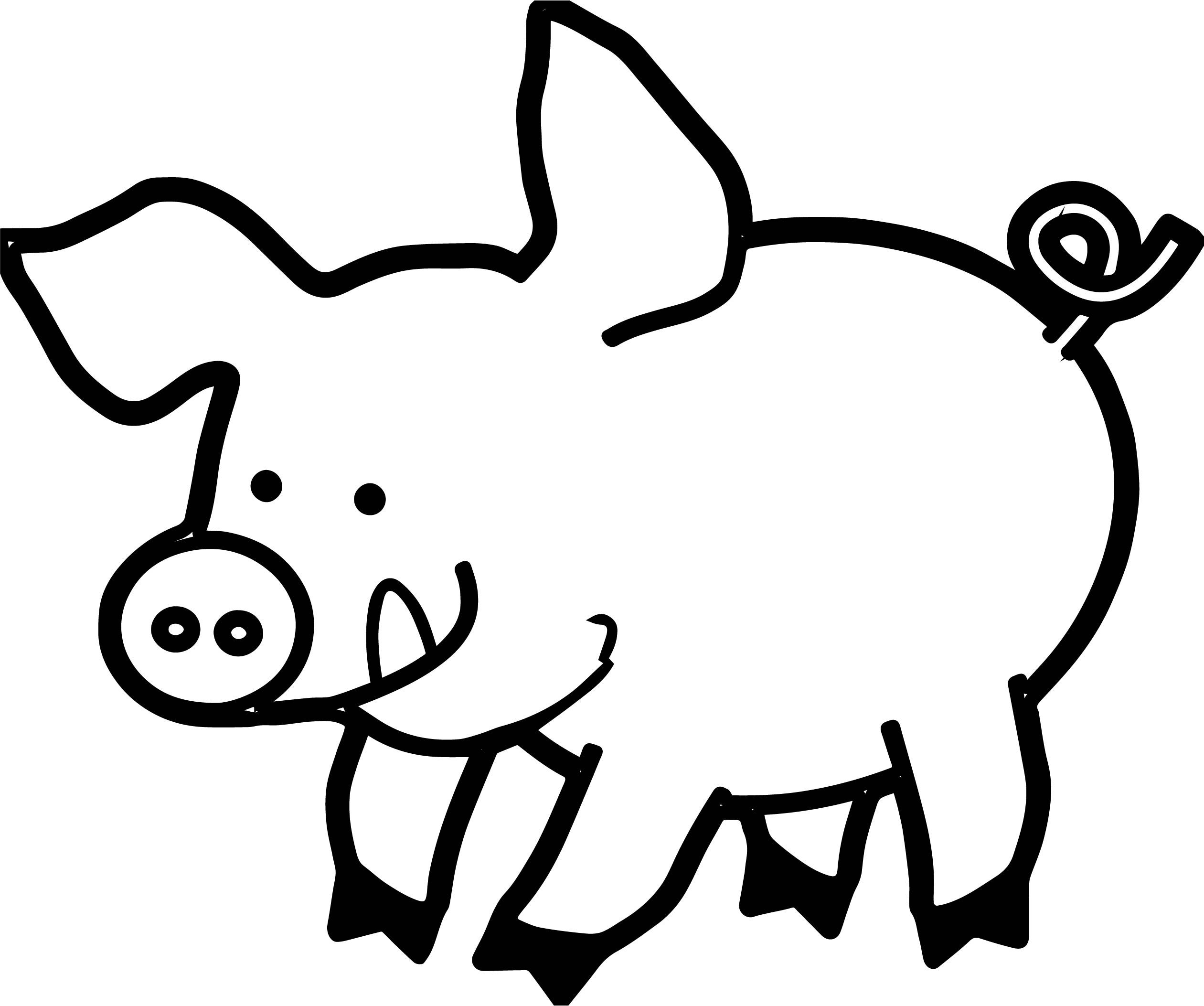 Cool Pig Piglet Coloring Page Coloring Pages Pig Face Drawing Animated Animals