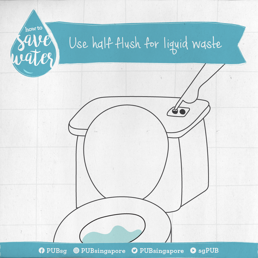 How To Save Water Use Half Flush For Liquid Waste