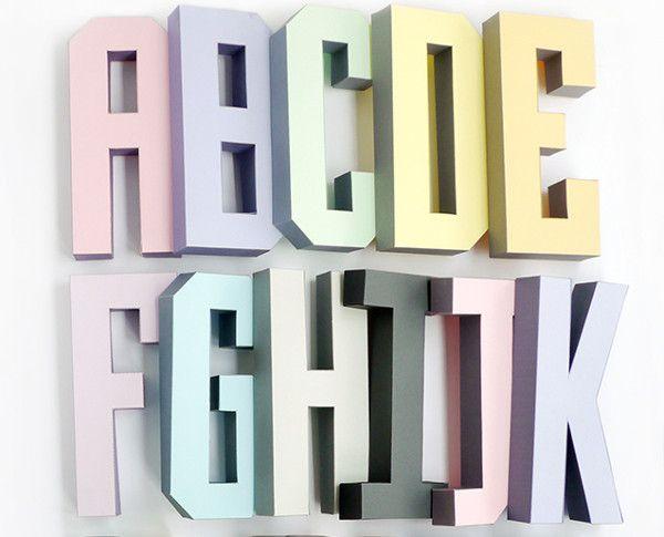 Make your own Letter Decor Living Room Decoration Template Instant Pdf download DIY template Printable 3D Letter