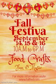 Fall Festival Poster Template  Poster Templates