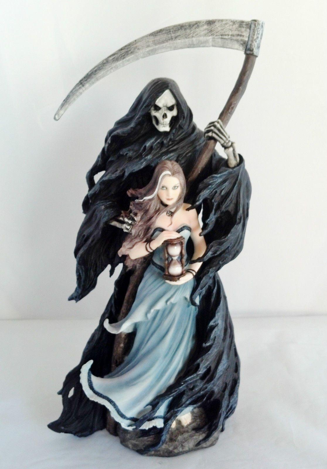 11 75 Inch Gothic Girl Grim Reaper Santa Muerte Holy Death ...