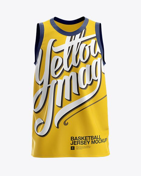 Download Basketball Jersey Mockup Front View In Apparel Mockups On Yellow Images Object Mockups Clothing Mockup Design Mockup Free Shirt Mockup
