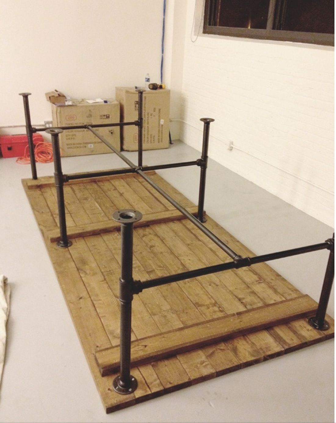 diy pallet iron pipe. How To Make A Steal Pipe Legged Table Diy Pallet Iron