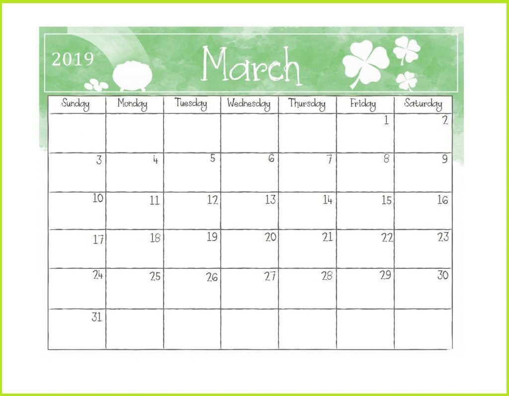 Printable 2019 Desk Calendar With Images