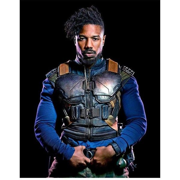 6294a63dd206 Michael B Jordan Black Panther Erik Killmonger Vest ( 149) ❤ liked on  Polyvore featuring outerwear