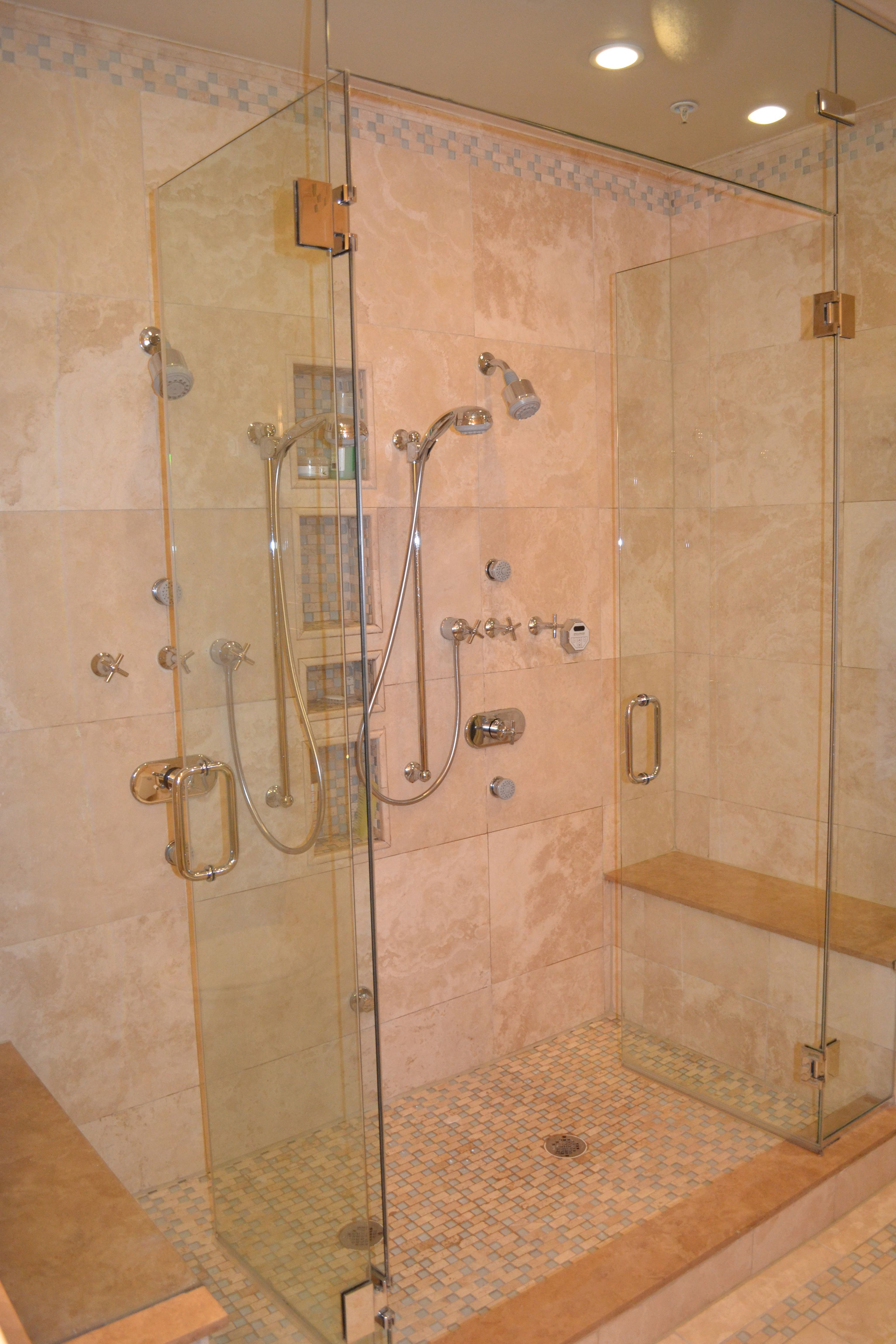 Getting Rid Of The Tub And Creating One Big Steam Shower Is A