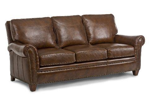 Huntington Leather Sofa by Randall Allan