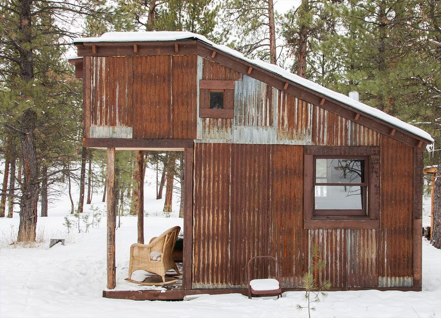 Tiny homes from reclaimed barn wood tiny cabin measuring for Small cabins with loft