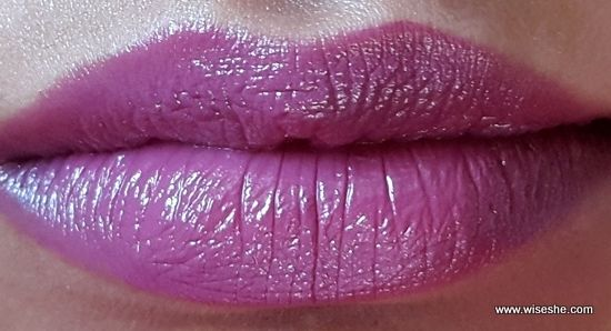 Maybelline ColorShow Lipstick 405 Violet Delight Review and Swatches