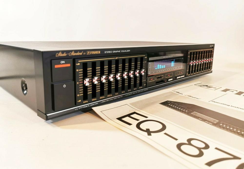 Fisher Eq 876 Graphic Equalizer Manual Studio Standard 9 Band Free Uk Delivery Ebay Equalizer Spectrum Analyzer Fisher