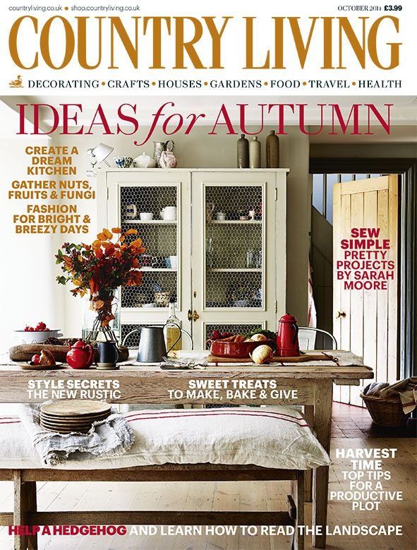Country Living Magazine October 2014 Cover Countryliving Co Uk Country Living Uk Country Living Magazine Country Living