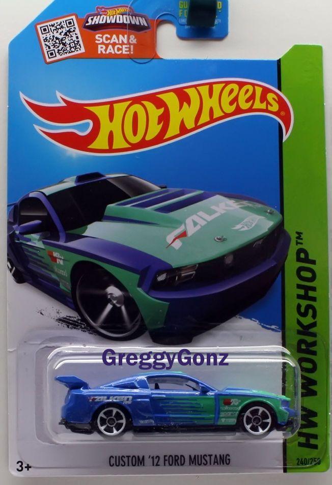 Hot Wheels Custom 12 Ford Mustang Hw Workshop Series Blue
