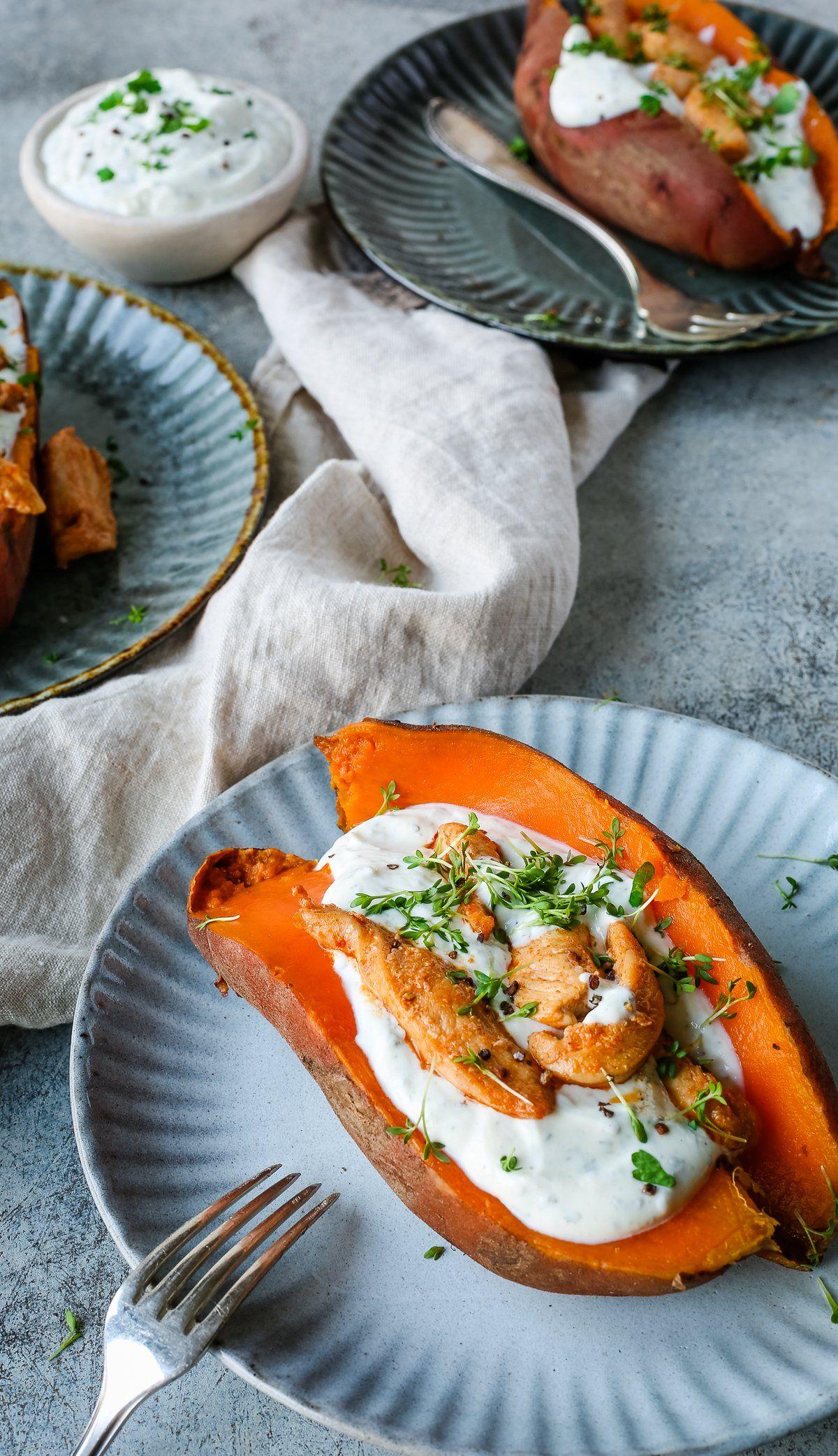 gefüllte Süßkartoffel – schnell und einfach