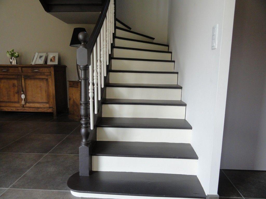 escalier en 2 teintes sofy pinterest escaliers deco. Black Bedroom Furniture Sets. Home Design Ideas