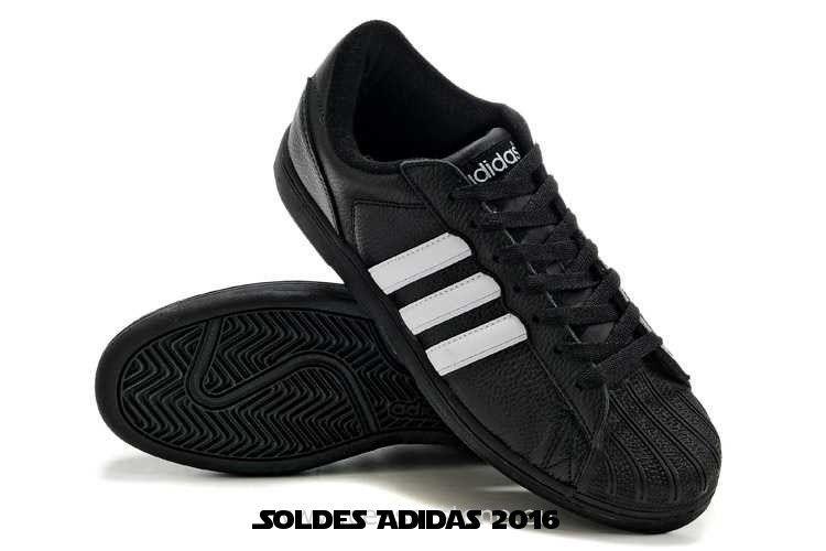 Adidas Superstar Ii Chaussures Pas Cher Femme Blanc Noir
