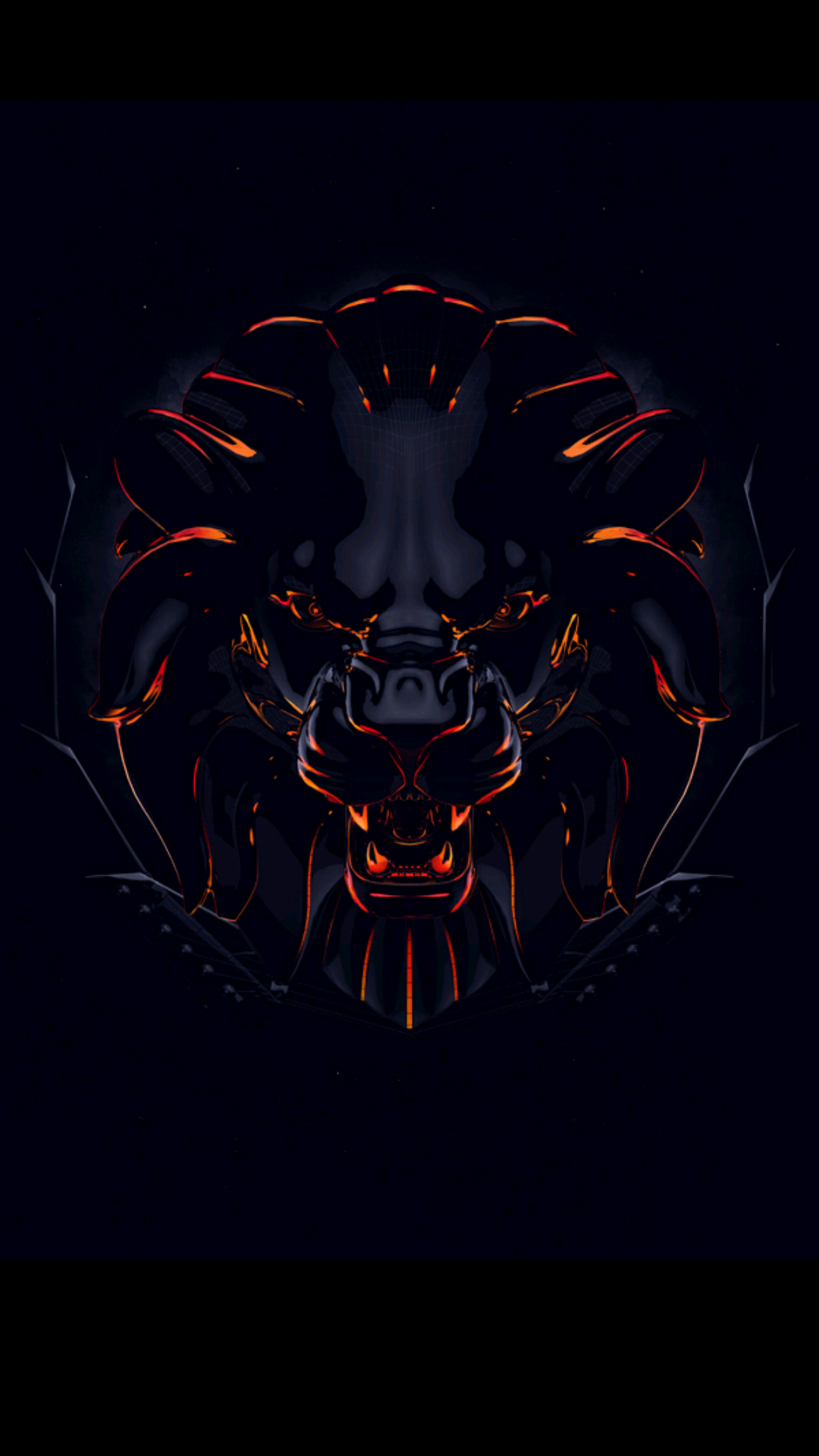 I Share You This Animated Lions Head Picture As One Of The Coolest Badass Wallpapers For