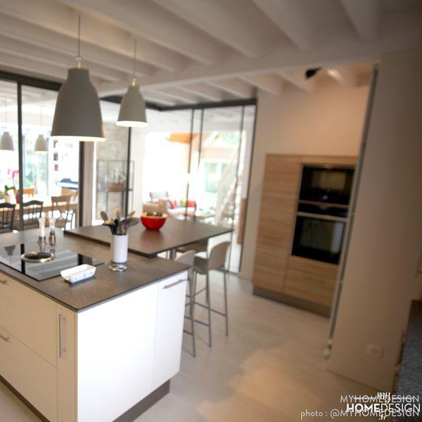 cuisine ouverte sur la salle manger dans cette maison lesprit campagne chic - Esprit Campagne Chic