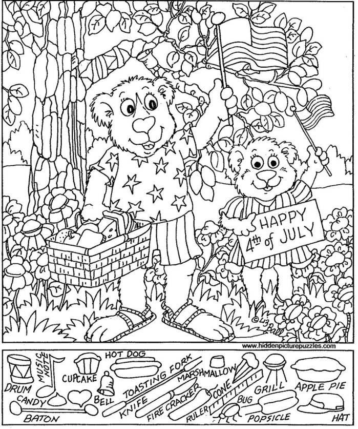 free hidden coloring pages - photo#39
