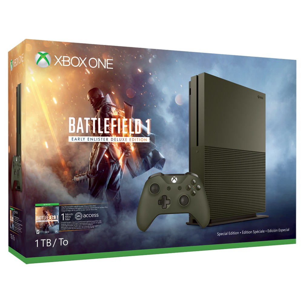 Xbox One S 1tb Battlefield 1 Special Edition Bundle Green Xbox