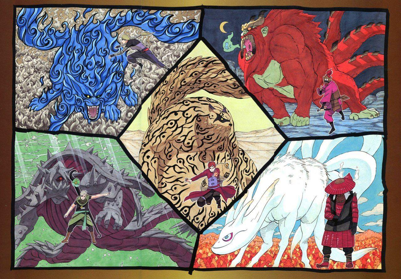 Картинки хвостатых демонов в наруто