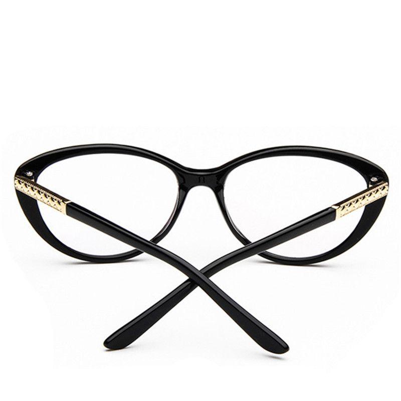 New Brand designer Women clear lens Optical Glasses metal Frame ...